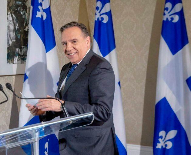 Le premier ministre désigné François Legault s'est adressé aux médias mardi
