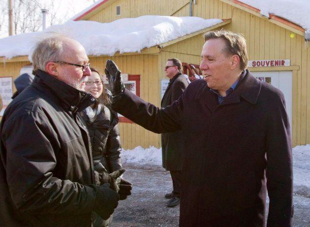 Marc Picard (à gauche) est l'un des élus de l'Action démocratique du Québec qui tient le fort depuis...