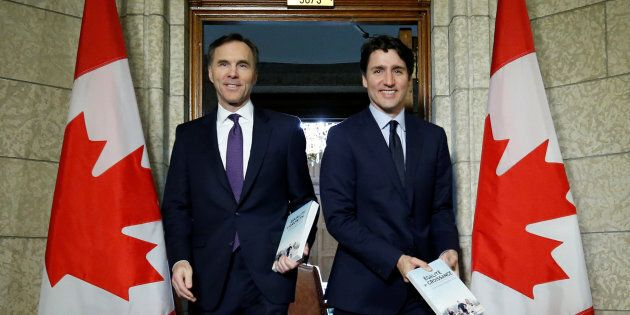 Photo d'archives de Bill Morneau et Justin