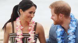 Le prince Harry et Meghan Markle adorablement en amour sur la plage de