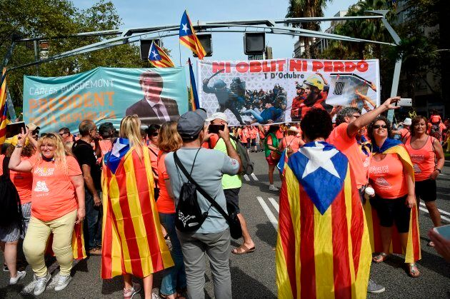 Un million de Catalans montrent leur force à