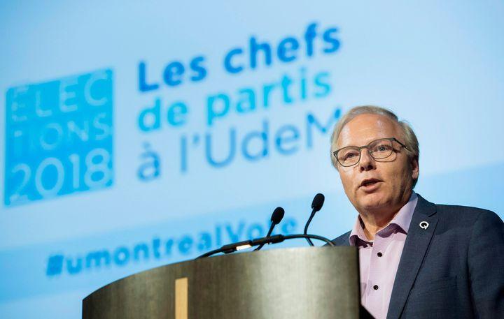 Jean-François Lisée était de passage sur le campus de l'Université de Montréal, mardi.