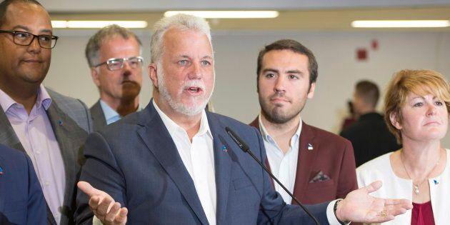 Philippe Couillard et les trois autres leaders des principaux partis politiques joueront gros lors du...