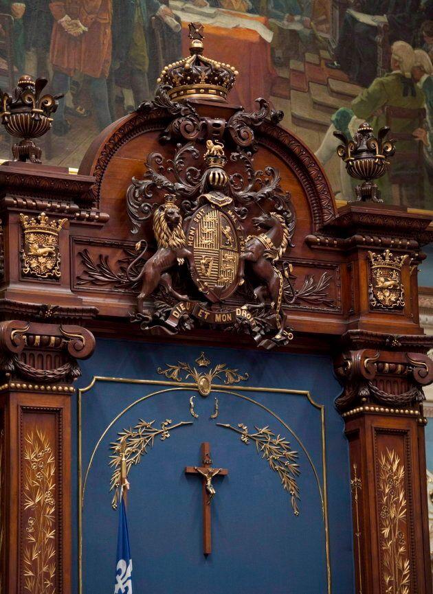 Le crucifix présent à l'Assemblée