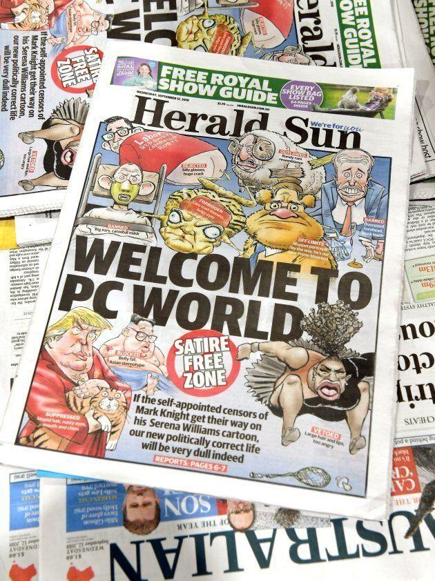 La première page du «Herald Sun» du 12