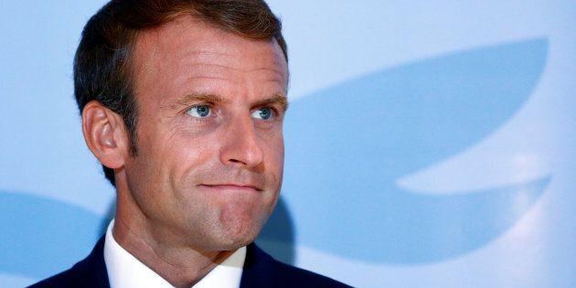 Le président français Emmanuel