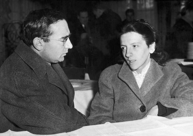 Josette Audin et son avocat Jules Borker, 3 décembre