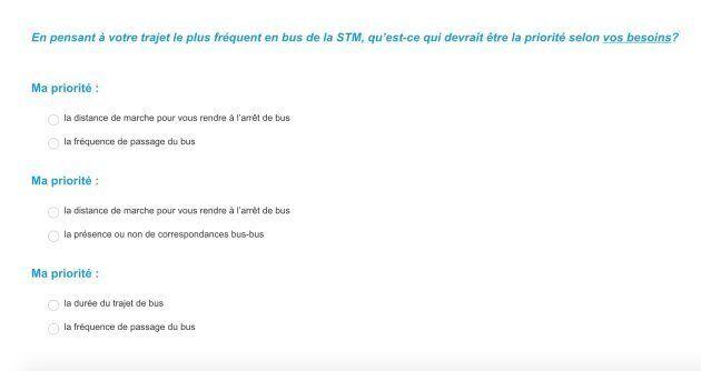 La STM a lancé un sondage en ligne pour alimenter la consultation publique sur la refonte du réseau d'autobus.