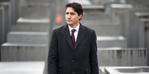 Le premier ministre Justin Trudeau a visité le mémorial de l'Holocauste à Berlin, en