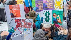 Plusieurs centaines d'étudiants manifestent pour la rémunération de leurs stages à