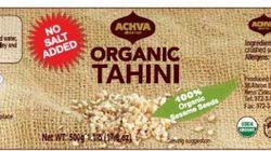 Des produits de tahini vendus dans sept provinces font l'objet d'un