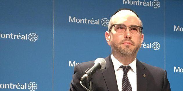 Photo d'archives de Lionel Perez, chef intérimaire d'Ensemble Montréal et chef de l'opposition à l'hôtel de ville de Montréal.