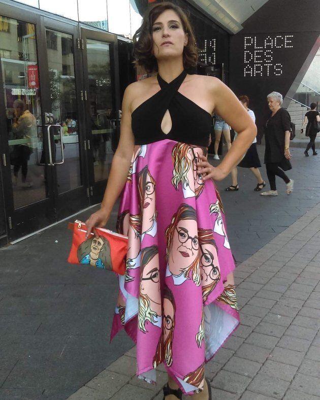 new styles 408ce c60e5 La robe Safia Nolin de Salomé Corbo sur le tapis rouge des ...