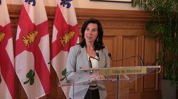 Valérie Plante s'excuse (encore) pour son discours en