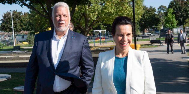 Le chef libéral Philippe Couillard a également rencontré la mairesse de Montréal, Valérie Plante,