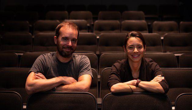Les co-fondateurs du Cinéma Moderne, Alexandre Domingue et Roxanne