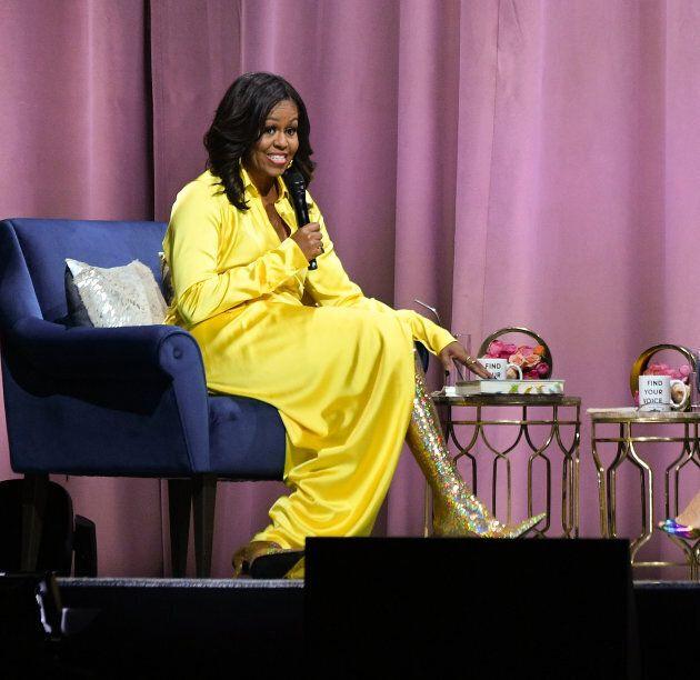 Les Bottes De Michelle Obama Ne Sont Pas Passees Inapercues