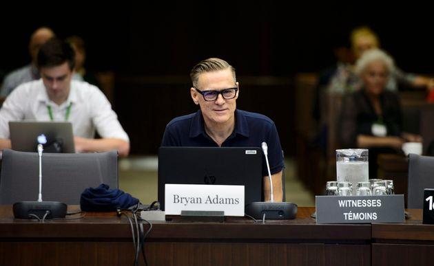 Bryan Adams a témoigné devant un comité spécial à la Chambre des communes,