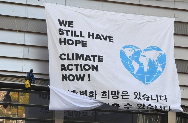 Des activistes de Greenpeace ont profité de la rencontre de l'ONU pour faire passer leur