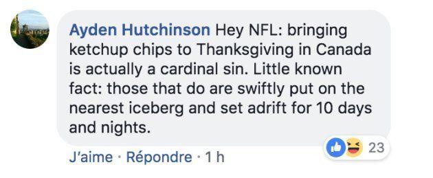 La NFL souligne d'une drôle de façon l'Action de grâce