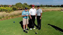 Trump fait du golf avec Tiger Woods et Jack