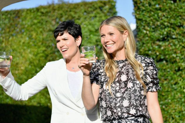 La chef de contenu du site Goop, Elise Loehnen, et l'actrice Gwyneth Paltrow, au Sommet de la santé Goop,...