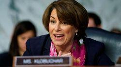 Le sénatrice démocrate du Minnesota Amy Klobuchar annonce sa