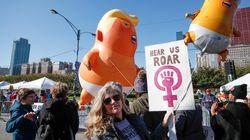 Les femmes marchent contre Trump à