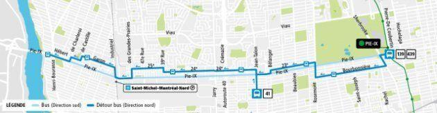 Les lignes d'autobus qui empruntent le boulevard Pie-IX seront déviées sur les rues avoisinantes en direction...