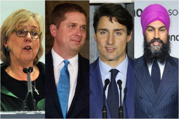 Il y aura plusieurs nouveaux visages lors des débats des chefs, dont Andrew Scheer (2e à partir de la...
