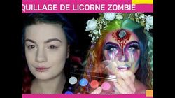 Halloween: démonstration de maquillage