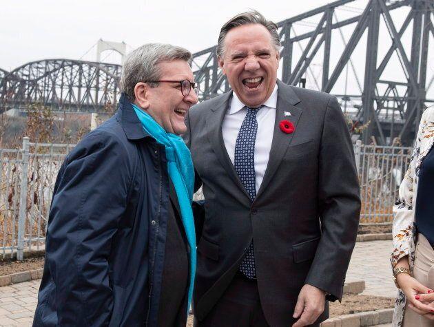 Après sa rencontre avec Andrew Scheer, François Legault a rencontré le maire de Québec Régis