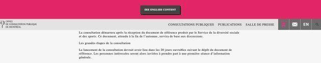 Jusqu'à récemment, le site web de l'OCPM indiquait que le document de référence devant lancer les procédures...