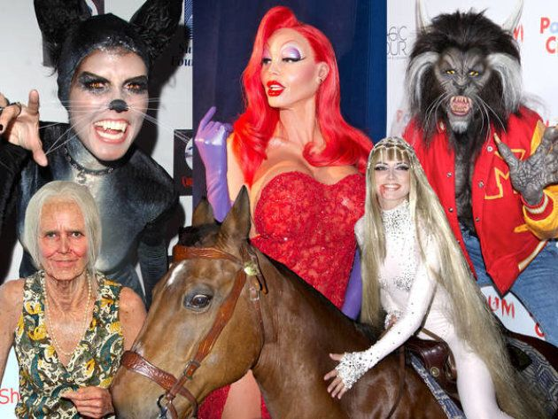 See every Heidi Klum Halloween party costume, from Lady Godiva to Jessica Rabbit and all the way through last year's 'Thriller' Werewolf!