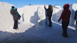 Le plus gros labyrinthe de neige au monde est au