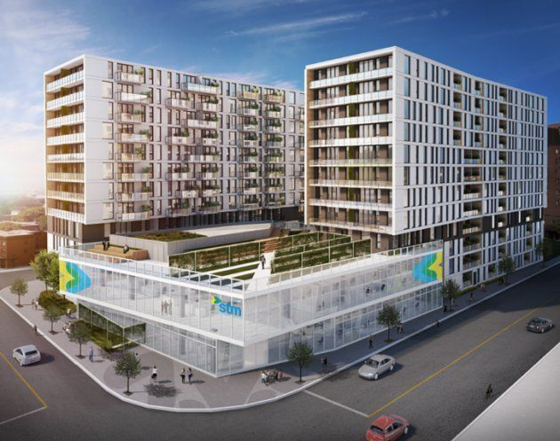 Le complexe immobilier Frontenac, mené conjointement par la Société de transport de Montréal et la Société...