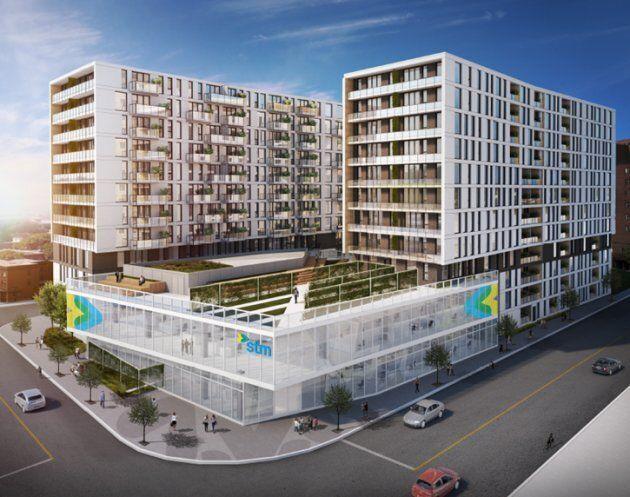 Le complexe immobilier Frontenac, mené conjointement par la Société de transport de Montréal et la Société d'habitation et de développement de Montréal, est le premier projet à remplir les exigences de 20% de logements sociaux, 20% de logements abordables et 20% de logements familiaux.