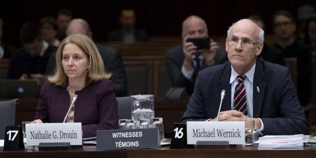 La sous-ministre de la Justice, Nathalie, et le greffier du Conseil privé, Michael