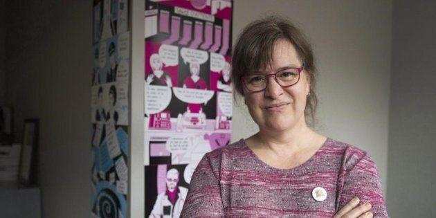 Gabrielle Bouchard, présidente de la Fédération des femmes du Québec et porte-parole du Collectif 8 mars