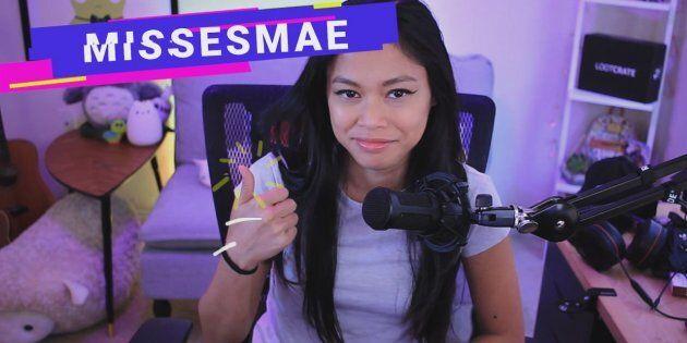 La streameuse Missesmae, une des 14 protagonistes de la web-série documentaire «Streamers», produite...