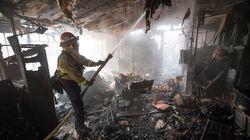Des vedettes forcées de fuir un incendie de forêt en