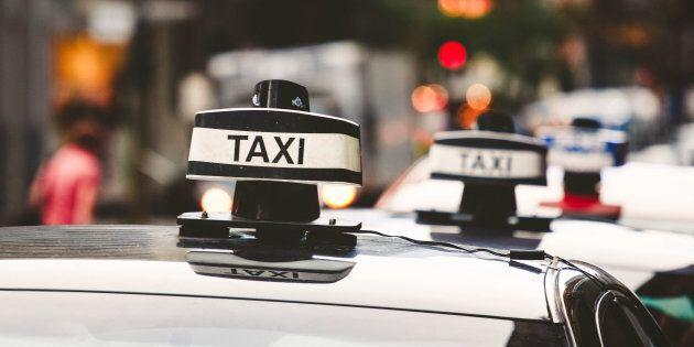 Industrie du taxi: geste de désespoir en direct à