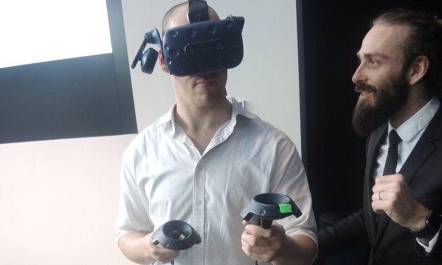 Une tournée du futur REM en réalité virtuelle a été conçue par la Caisse de dépôt et placement du Québec....