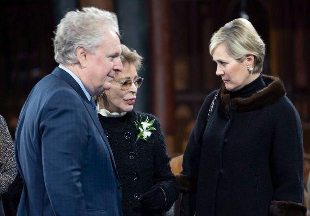 L'ancien premier ministre Jean Charest en compagnie de Chantale