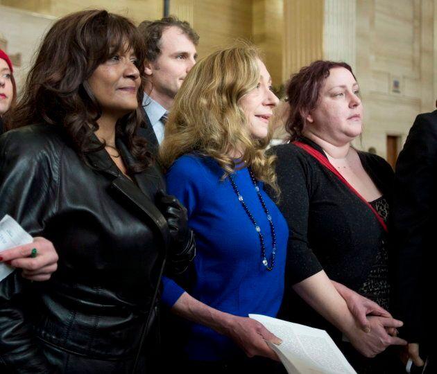 Terri-Jean Bedford, Amy Lebovitch et Valerie Scott étaient au coeur de l'affaire Bedford, qui a bousculé les lois canadiennes en matière de prostitution, en 2013.