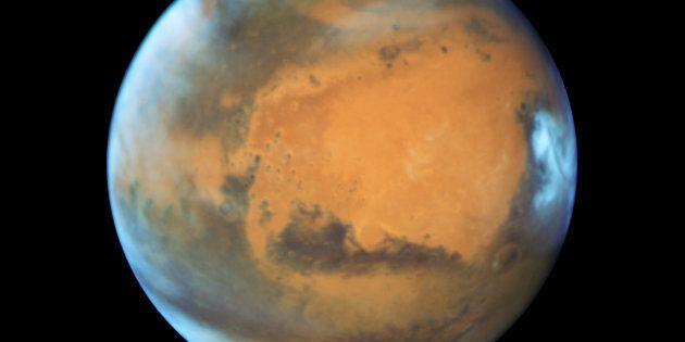 Une image de Mars captée via le télescope Hubble en