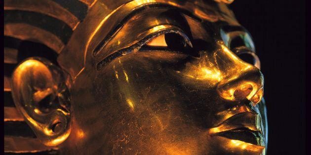 Masque funéraire de Toutankhamon (musée du Caire), Égypte.