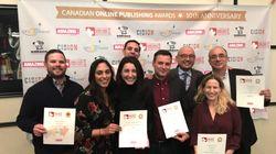 HuffPost Québec et HuffPost Canada remportent cinq prix aux Canadian Online Publishing