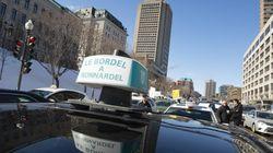 Les chauffeurs de taxi manifestent dans les rues de
