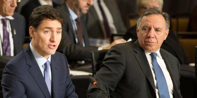 Justin Trudeau et François Legault ont abordé la question lors d'un souper avec les autres premiers ministres...